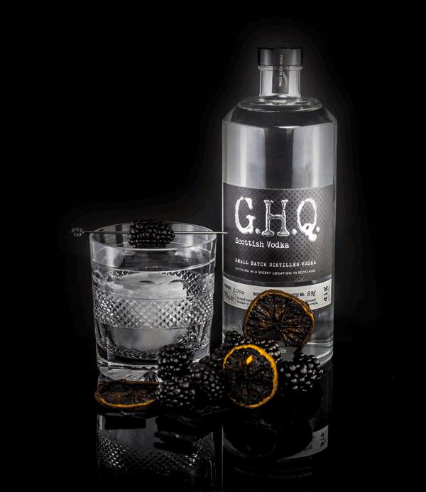 Award-winning premium Scottish Vodka   G.H.Q Spirits