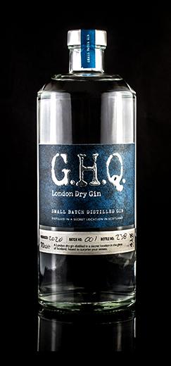 G.H.Q London Dry Gin, handcrafted premium spirits distilled in Scotland